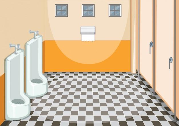 Innenarchitektur der männlichen toilette