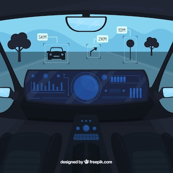 Innenarchitektur des autonomen autos