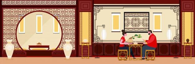 Innenarchitektur des chinesischen wohnzimmers