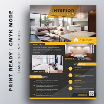 Innenarchitektur flyer design-vorlage