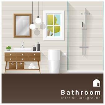 Innenarchitektur moderner badezimmerhintergrund