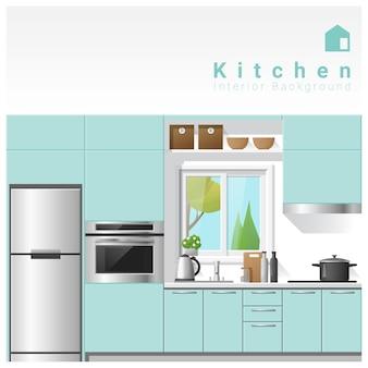 Innenarchitektur moderner küchenhintergrund