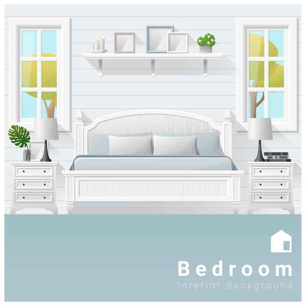 Innenarchitektur moderner schlafzimmerhintergrund