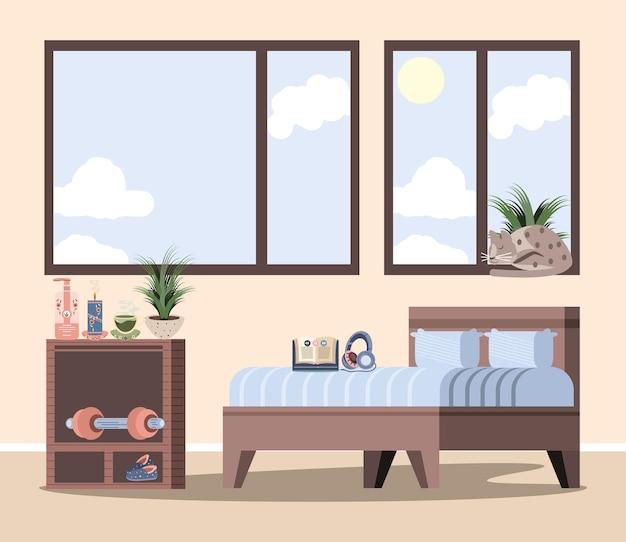 Inneneinrichtung des wohnzimmers