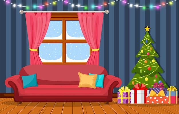 Innenraum des weihnachtszimmers.