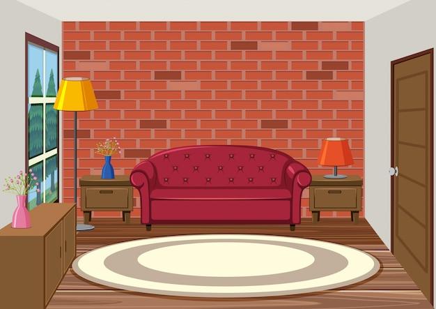 Innenraum des wohnzimmers