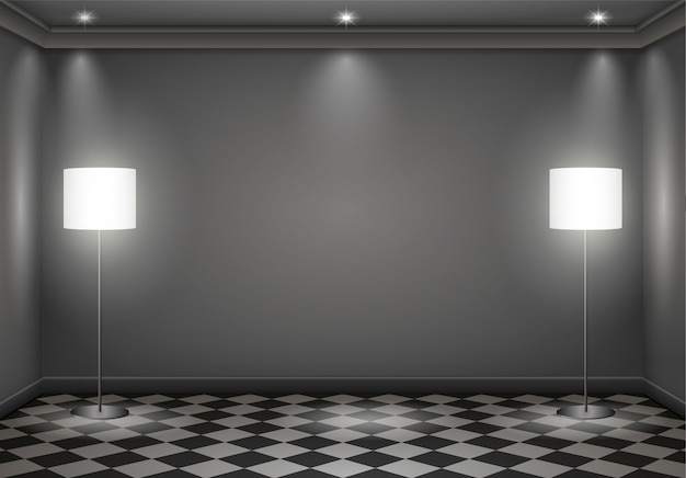 Innenraum dunkler raum