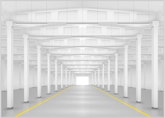 Innenraum einer fabrik oder eines lagers