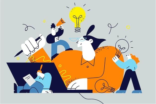 Innovation, verbesserung der karriere, unternehmensgründungskonzept