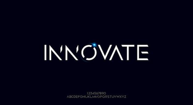 Innovativer text auf futuristischer schrift