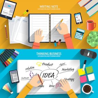 Innovator brainstorming