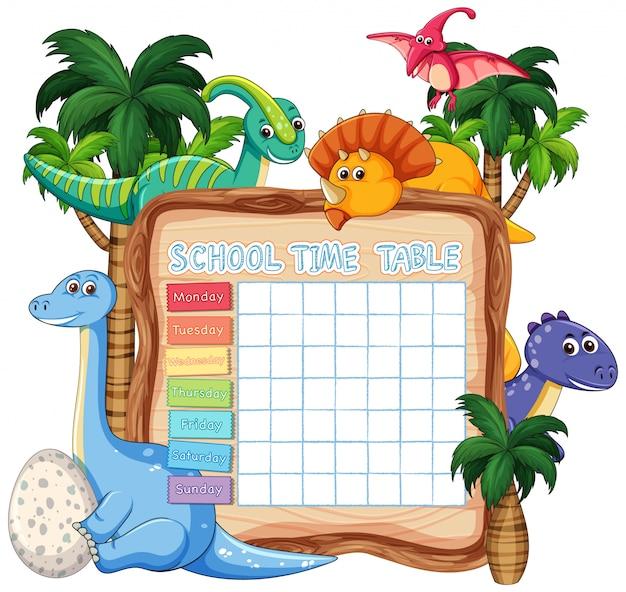 Inosaur timebale für kinder auf weiß