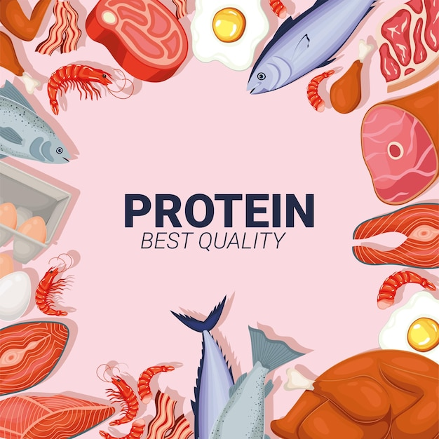 Inschrift in proteinqualität