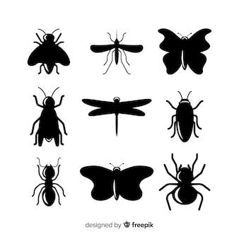 Insekt silhouette kollektion