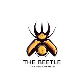 Insekten käfer design logo