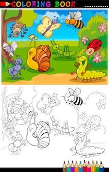 Insekten und käfer für malbuch oder seite