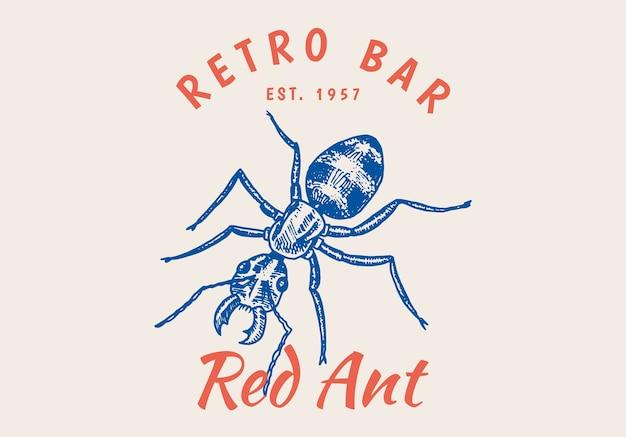 Insektenlogo für bar oder tattoo studio