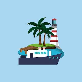 Insel emblem bild
