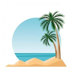 Insellandschaftskarikatur
