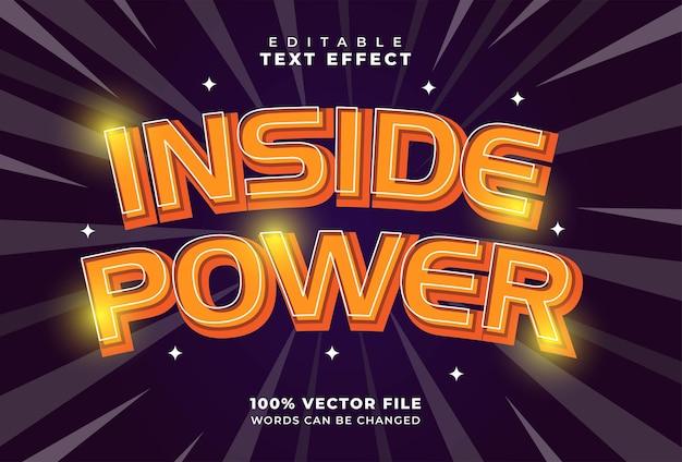 Inside power-texteffekt