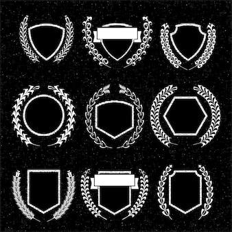 Insignien und etiketten für ihr design