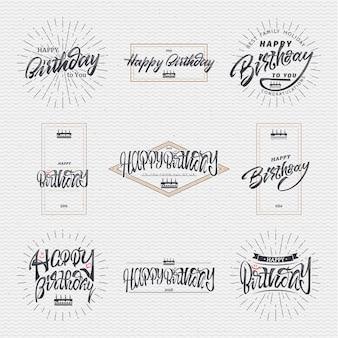 Insignien werden mit hilfe von schrift- und kalligrafiefähigkeiten erstellt, wobei die richtige typografie und komposition verwendet wird.