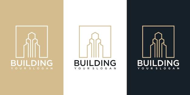 Inspiration für das design des baukonstruktionslogos. logo design