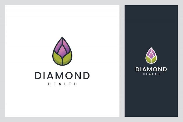 Inspiration für das design des diamant-gesundheitslogos