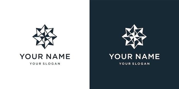 Inspiration für das design des geometrischen kompass-logos