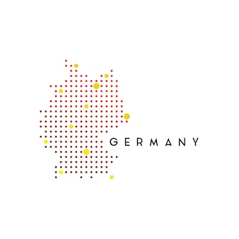 Inspiration für das design des gepunkteten deutschland-kartenlogos
