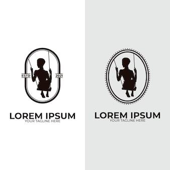 Inspiration für das design des kinderschaukel-logos