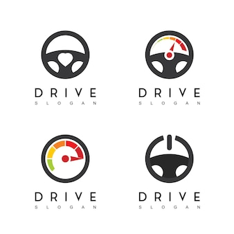 Inspiration für das design des lenkradantriebs-logos