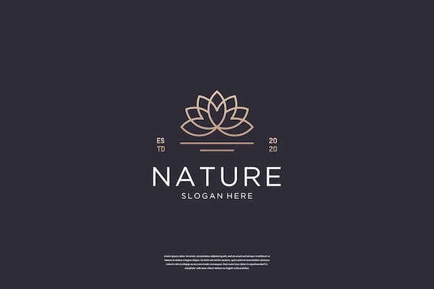 Inspiration für das design des luxuriösen lotusblumen-logos