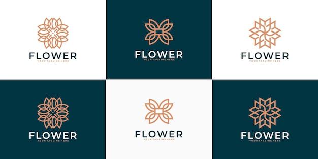 Inspiration für das design des luxus-blumenschönheitslogos