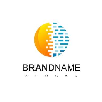 Inspiration für das design des solarzellen-logos