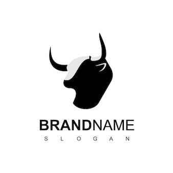 Inspiration für das design des stier- oder kuhkopf-logos