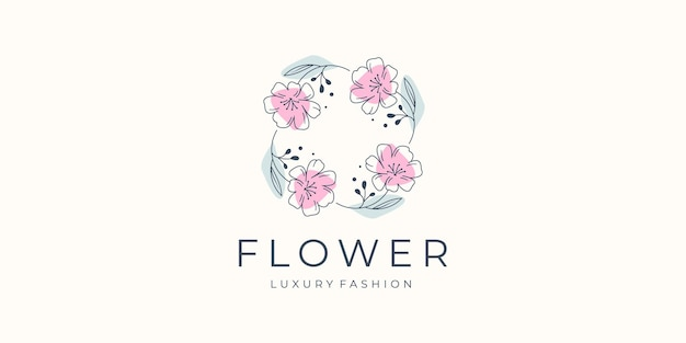 Inspiration für das design von blumenlogos für ihr geschäft mit luxus, boutique, salon und spa, femininem design.