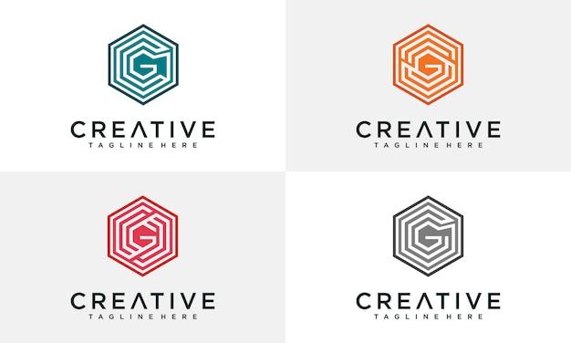 Inspiration für das logo des buchstabens g.
