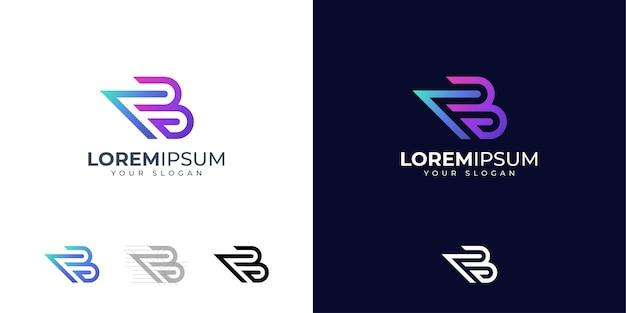 Inspiration für das logo-design von buchstabe b.