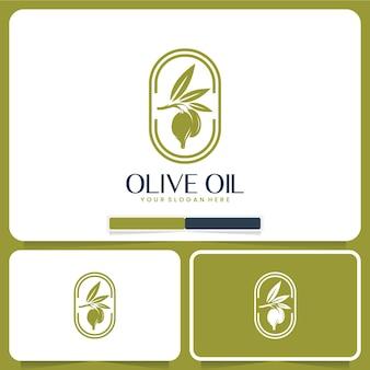 Inspiration für das logodesign aus natürlichem olivenöl