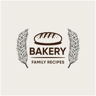 Inspiration für das logodesign der bäckereiindustrie