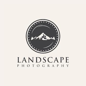 Inspiration für das logodesign der landschaftsfotografie