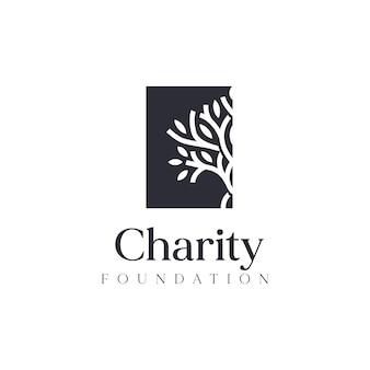 Inspiration für das logodesign der wohltätigkeitsstiftung