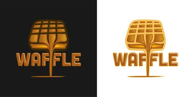 Inspiration für das logodesign mit waffel und schokolade geschmolzen