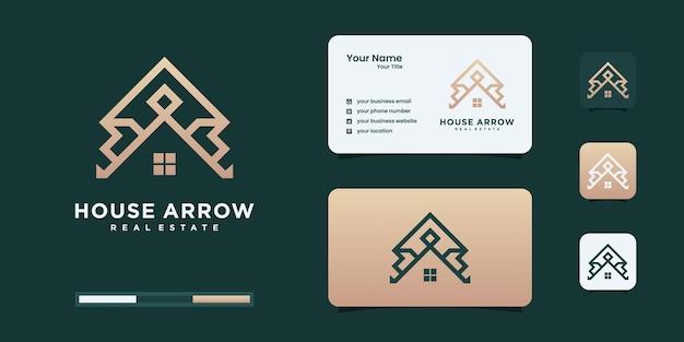Inspiration für das logodesign von luxushäusern.