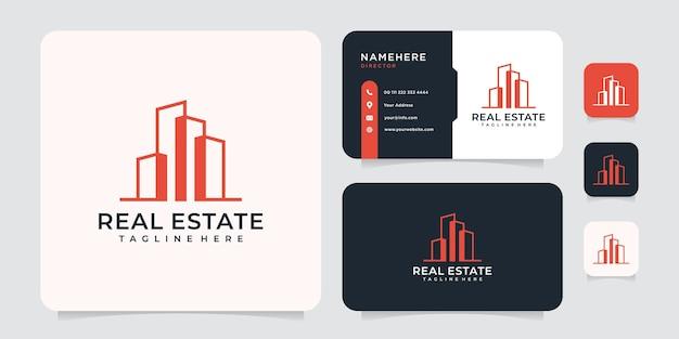 Inspiration für das logokonzept der immobilienarchitektur