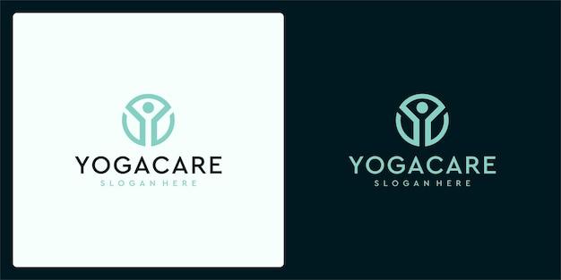 Inspiration für das lotus yoga-logo-design. meditation lotus yoga logo-design