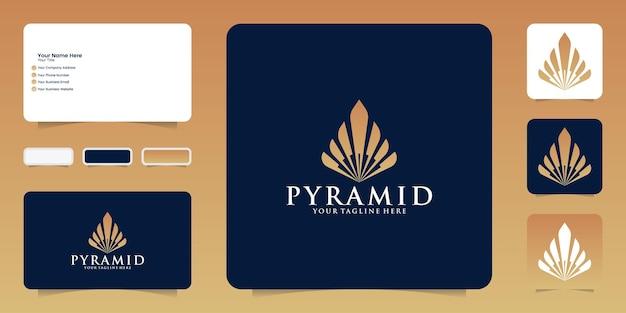 Inspiration für das pyramiden-logo-design und visitenkarte