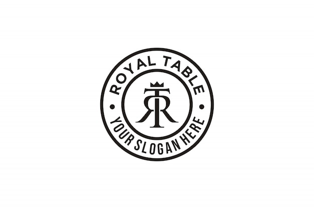Inspiration für das tr-logo des anfangsbuchstabens