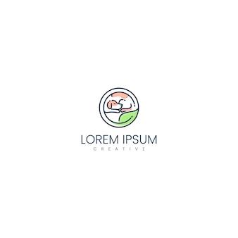 Inspiration für ein gesundes haustier-logo-design